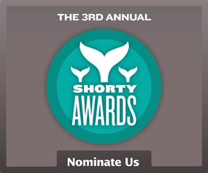 Nominate Empire of the Kop for a social media award in the Shorty Awards!